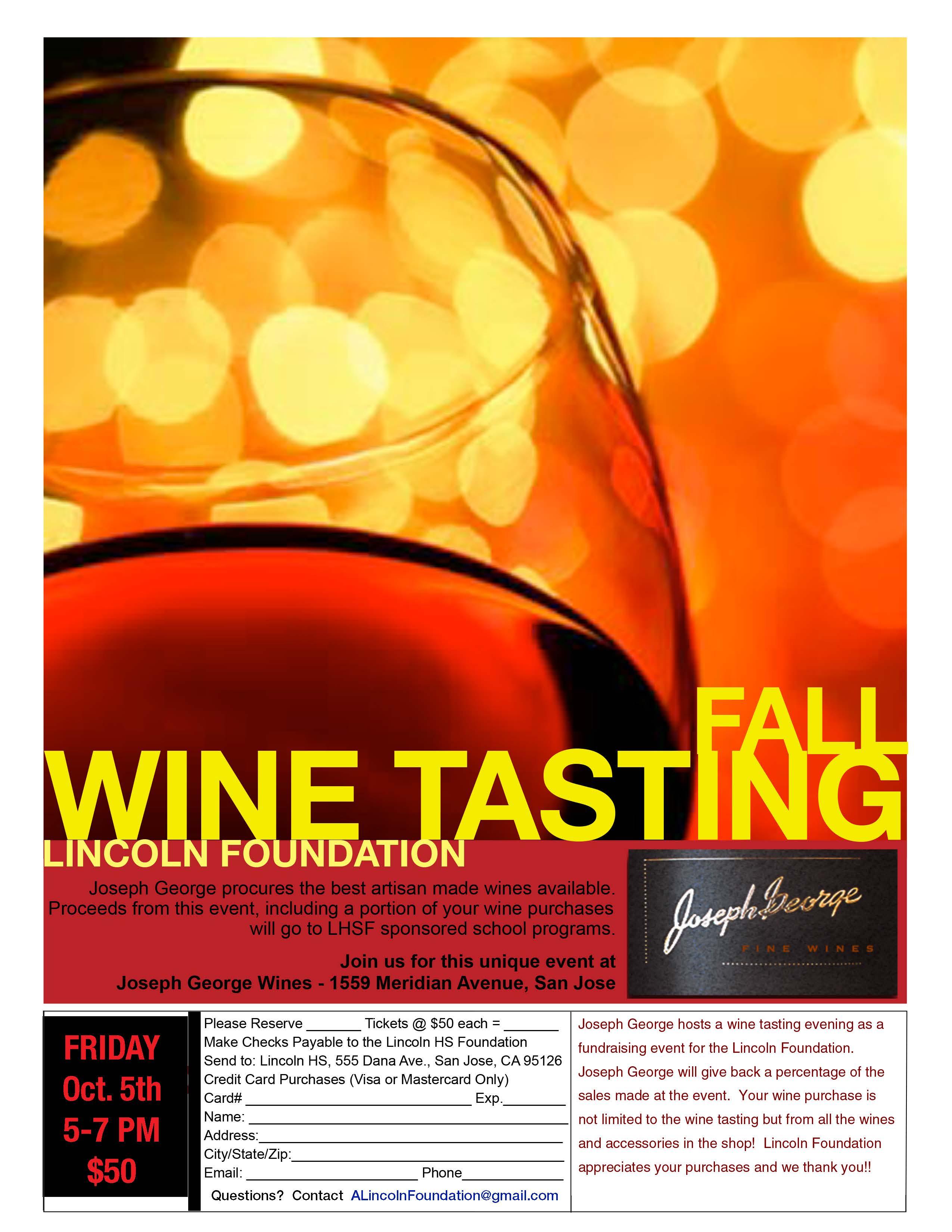Wine Tasting Flyer 2018